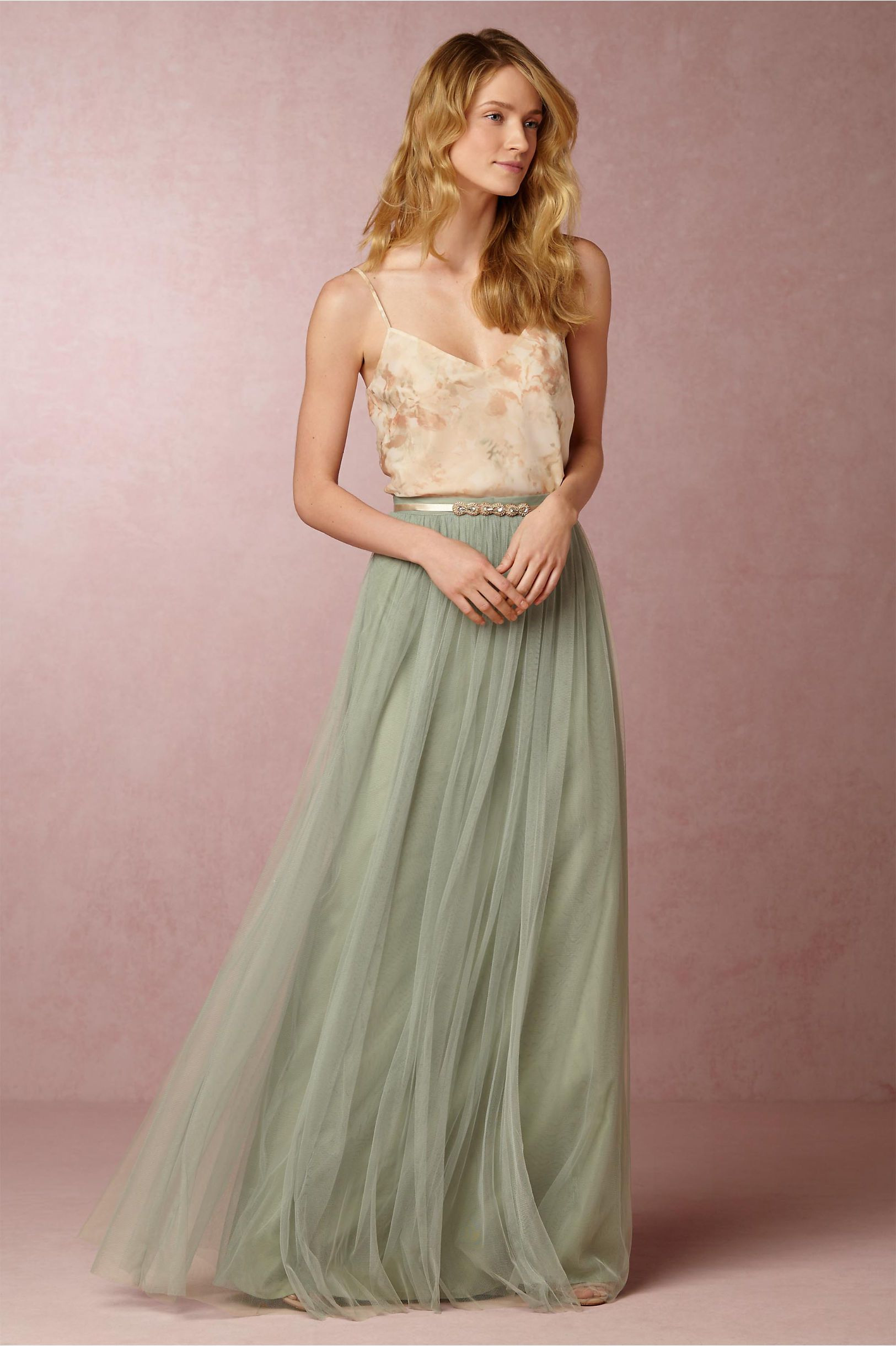 Bhldn Liv Cami & Louise Tulle Skirt In Bridal Party