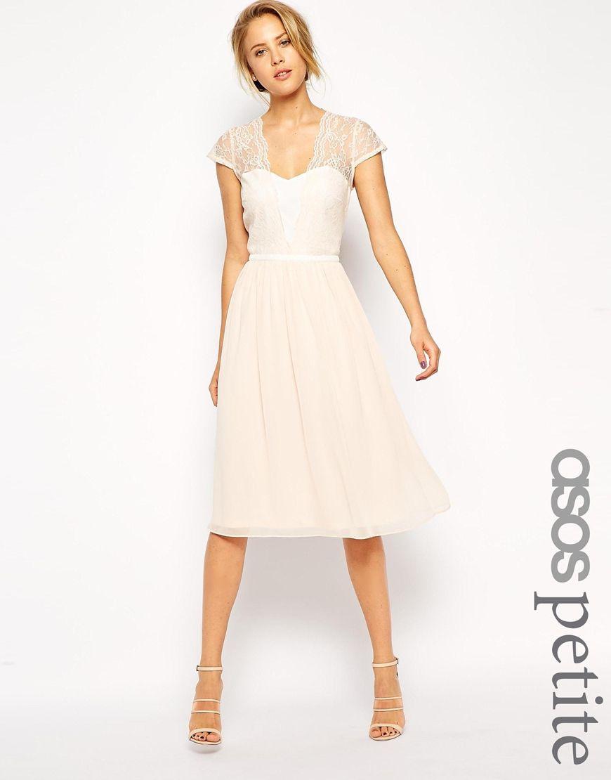 Bild 1 Von Asos Petite – Midikleid Mit Bogenkanten | Kleid