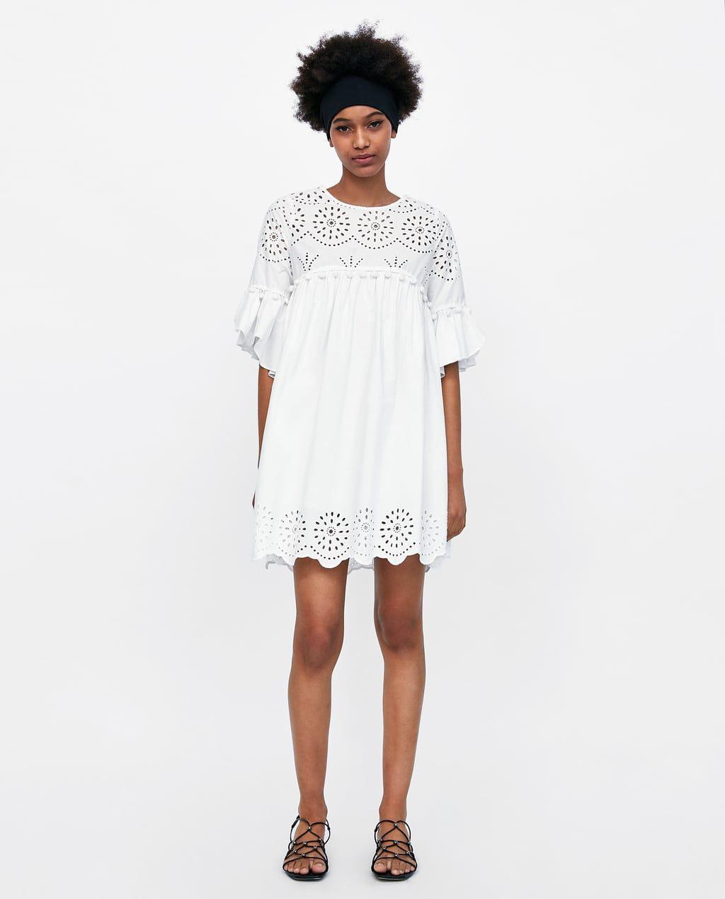 Bild 1 Von Kleid Mit Lochstickerei Von Zara | Zara Kleider