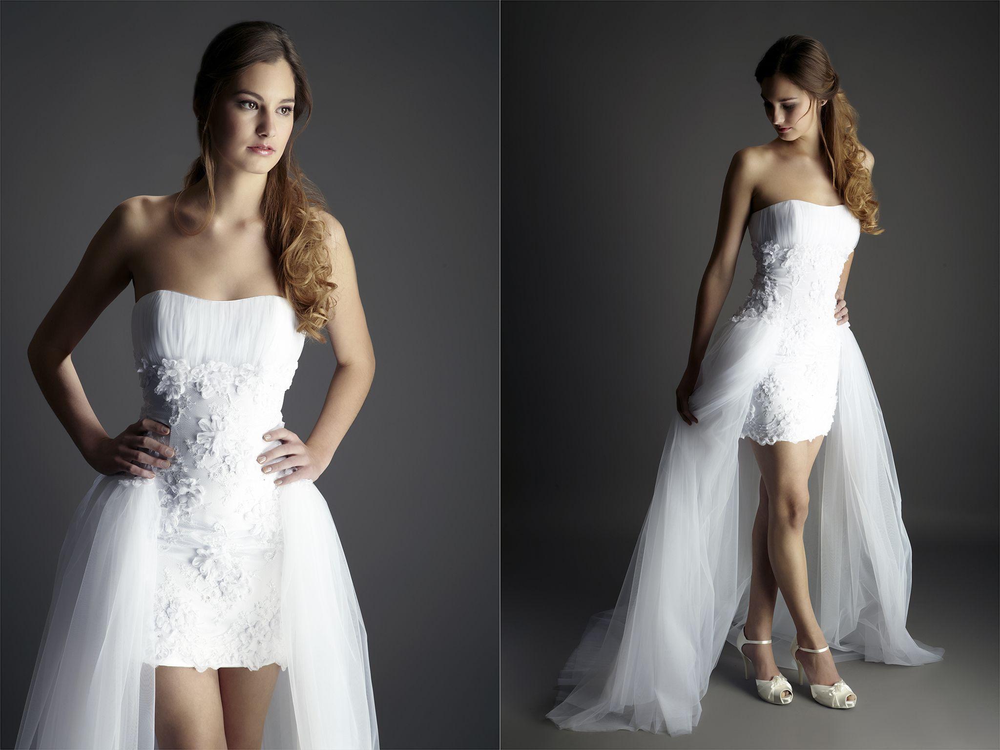 Billig Und Elegant Hochzeitskleid Vorne Kurz Hinten Lang