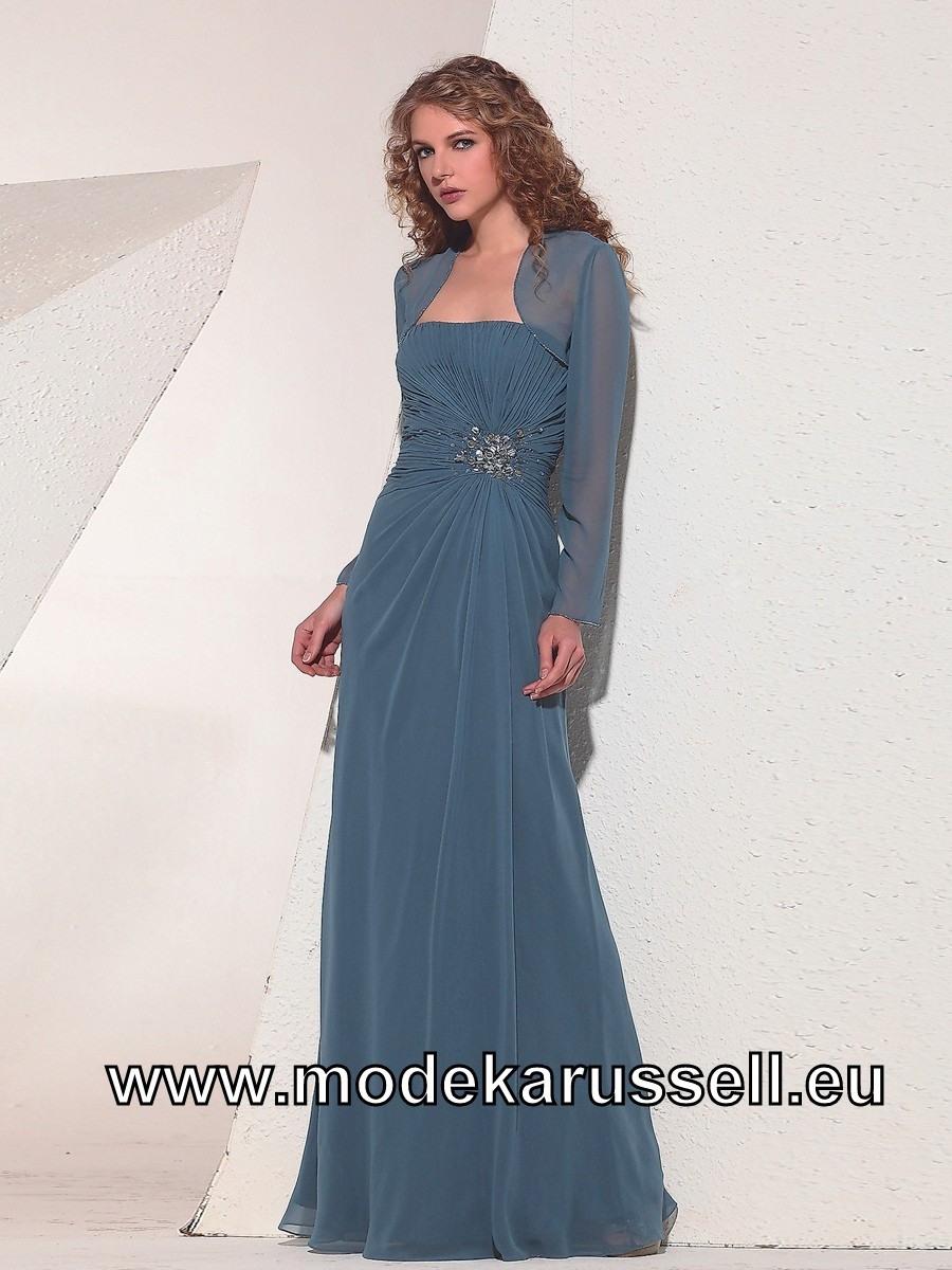 Blaues Abendkleid Für Den Winter