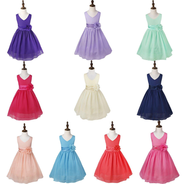 Blumenmädchen Kleid Kinder Festlich Brautjungfer Festzug