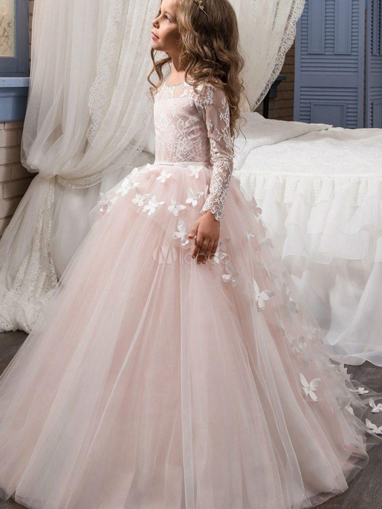 Blumenmädchen Kleider Prinzessin Rosa Abendkleider Für ...