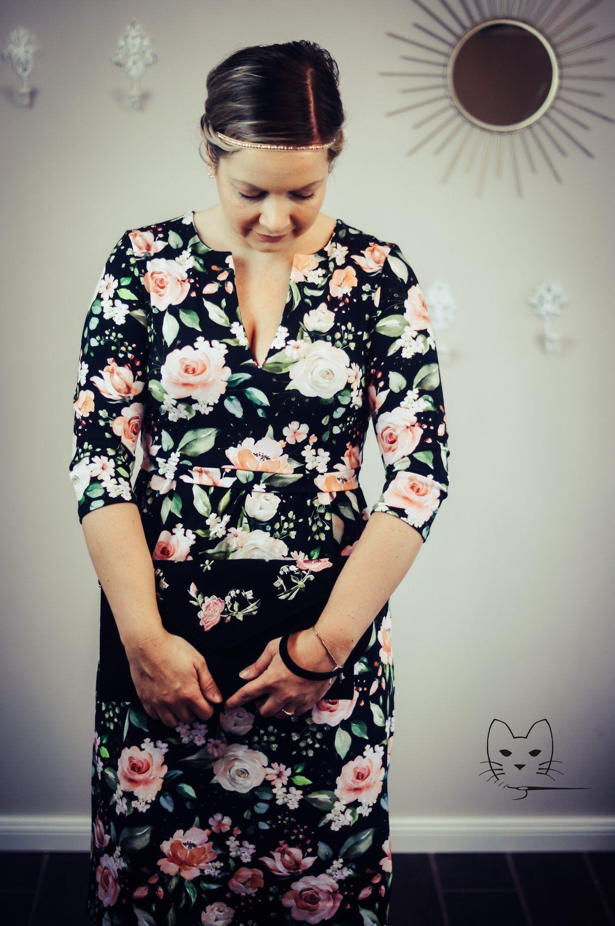 Blumiges Frühlings-Kleid Nähen #wickelkleidmuster Blumige - Abendkleid