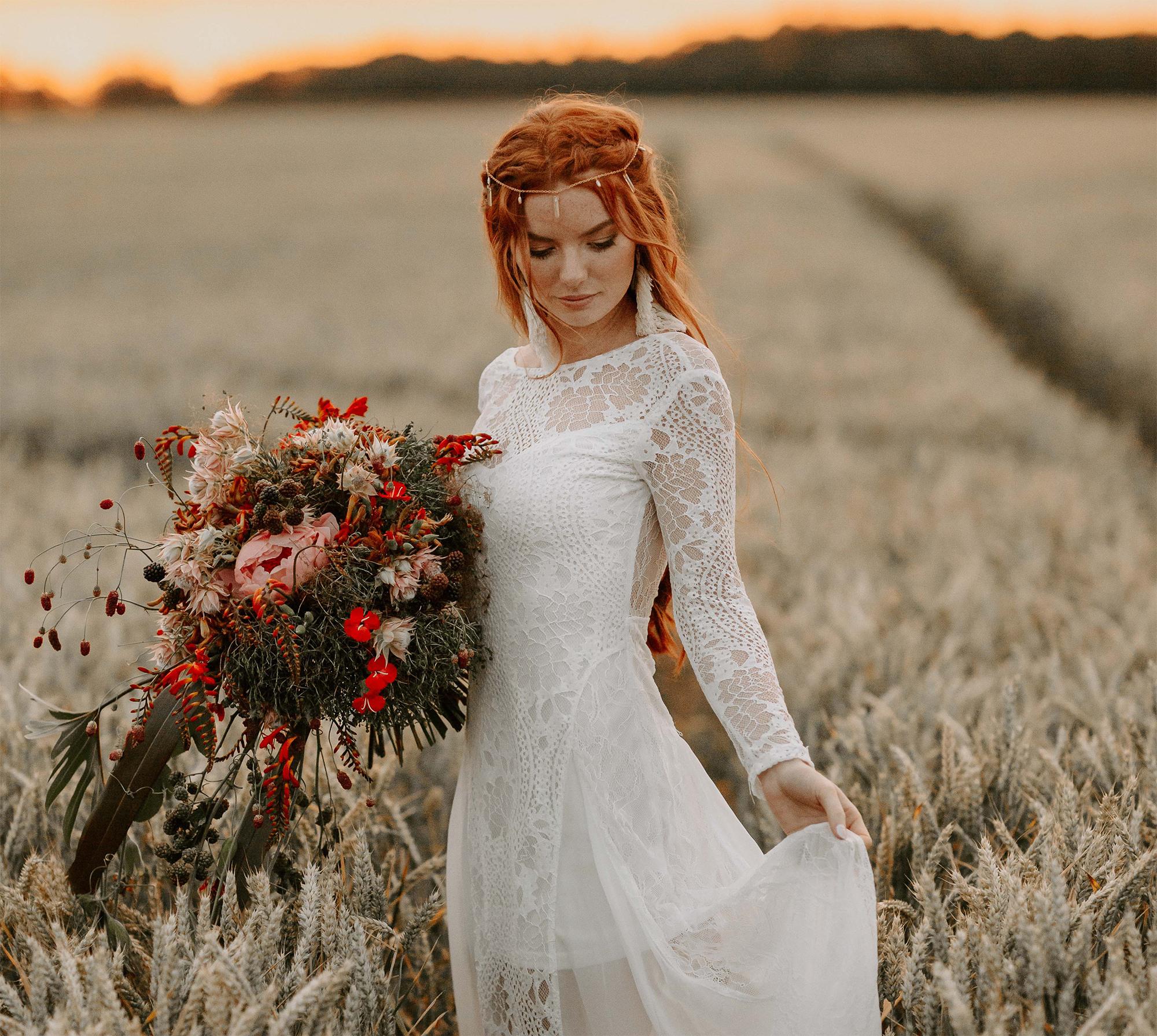 Boho-Hochzeit: Deko, Kleider Und Planung - Abendkleid