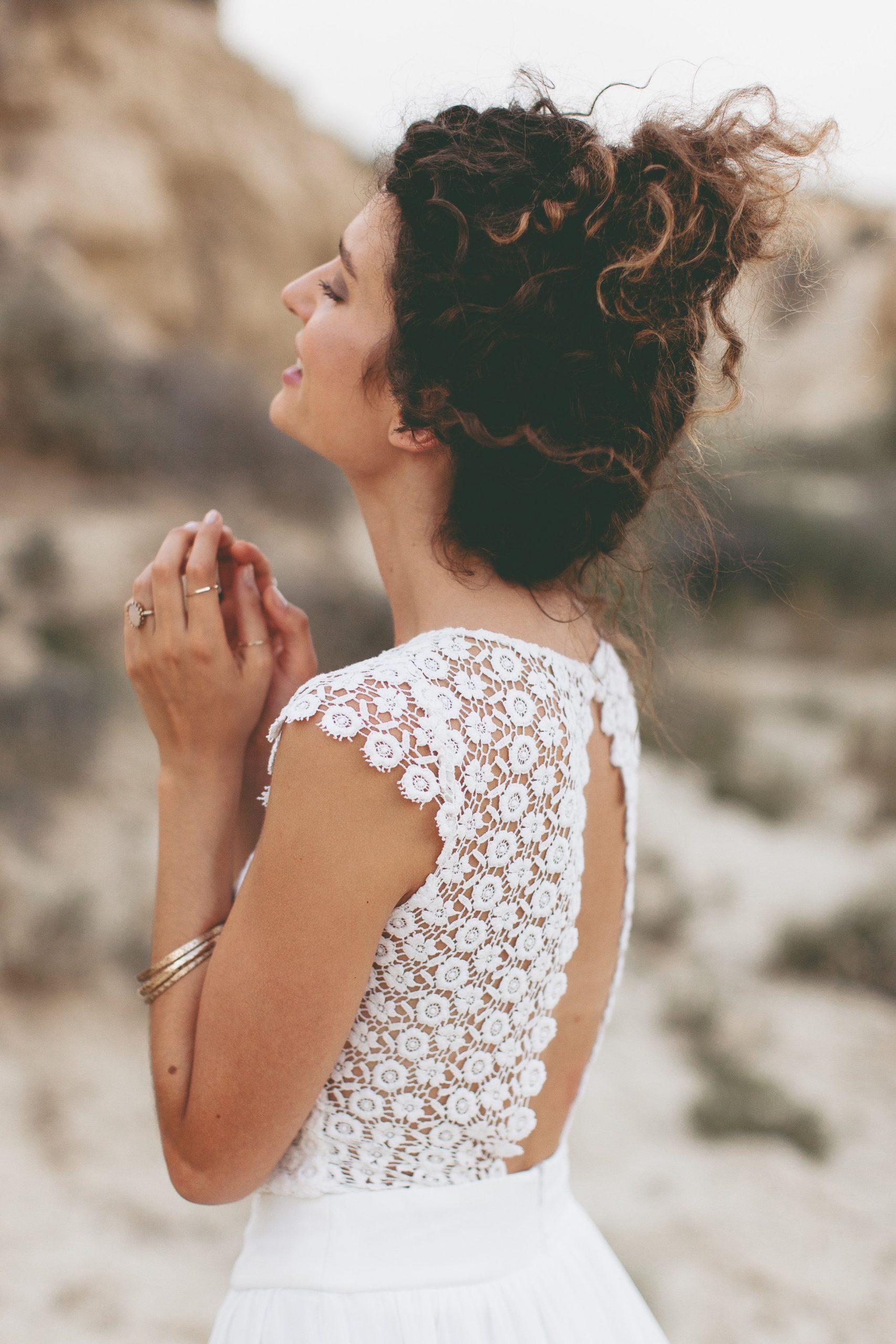 Boho Hochzeitskleid / Vintage Hochzeit Hippie / Light & Lace