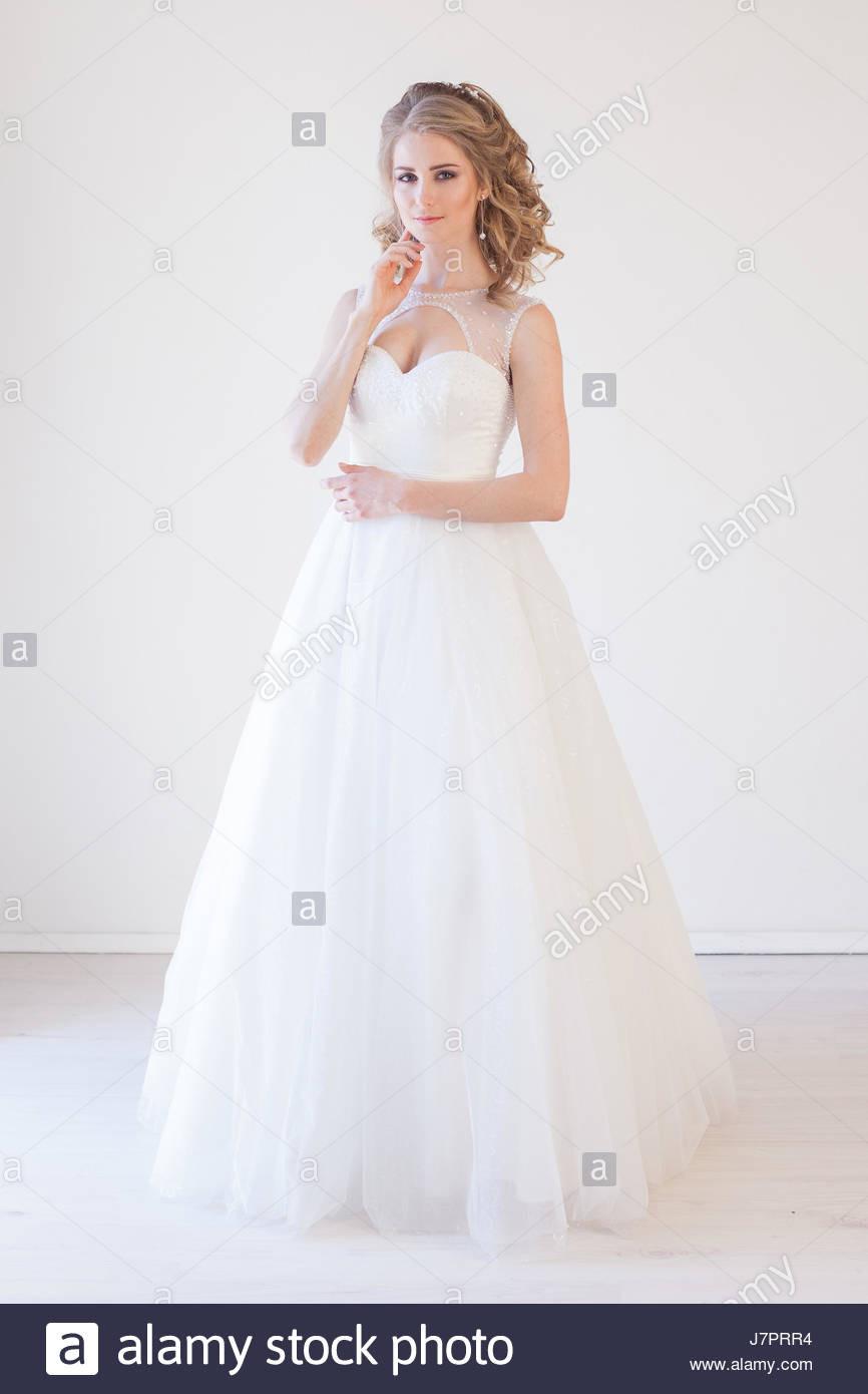 Braut Hochzeit Kleid Weiße Hochzeit Liebe Stockfoto, Bild