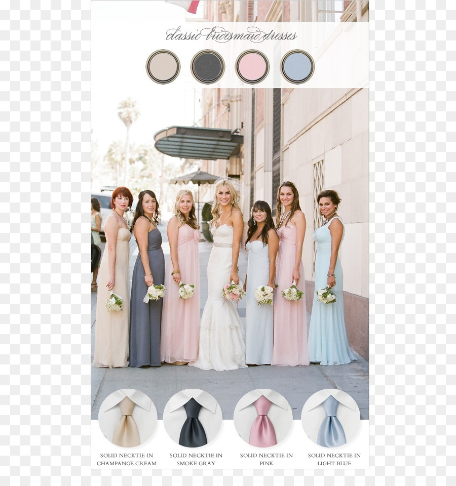 Brautjungfer Hochzeit Kleid Pastell - Pastell Png
