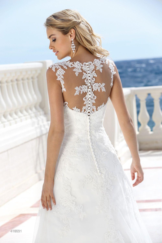 Brautkleid A Linie Tattoo Spitze | Hochzeitskleid