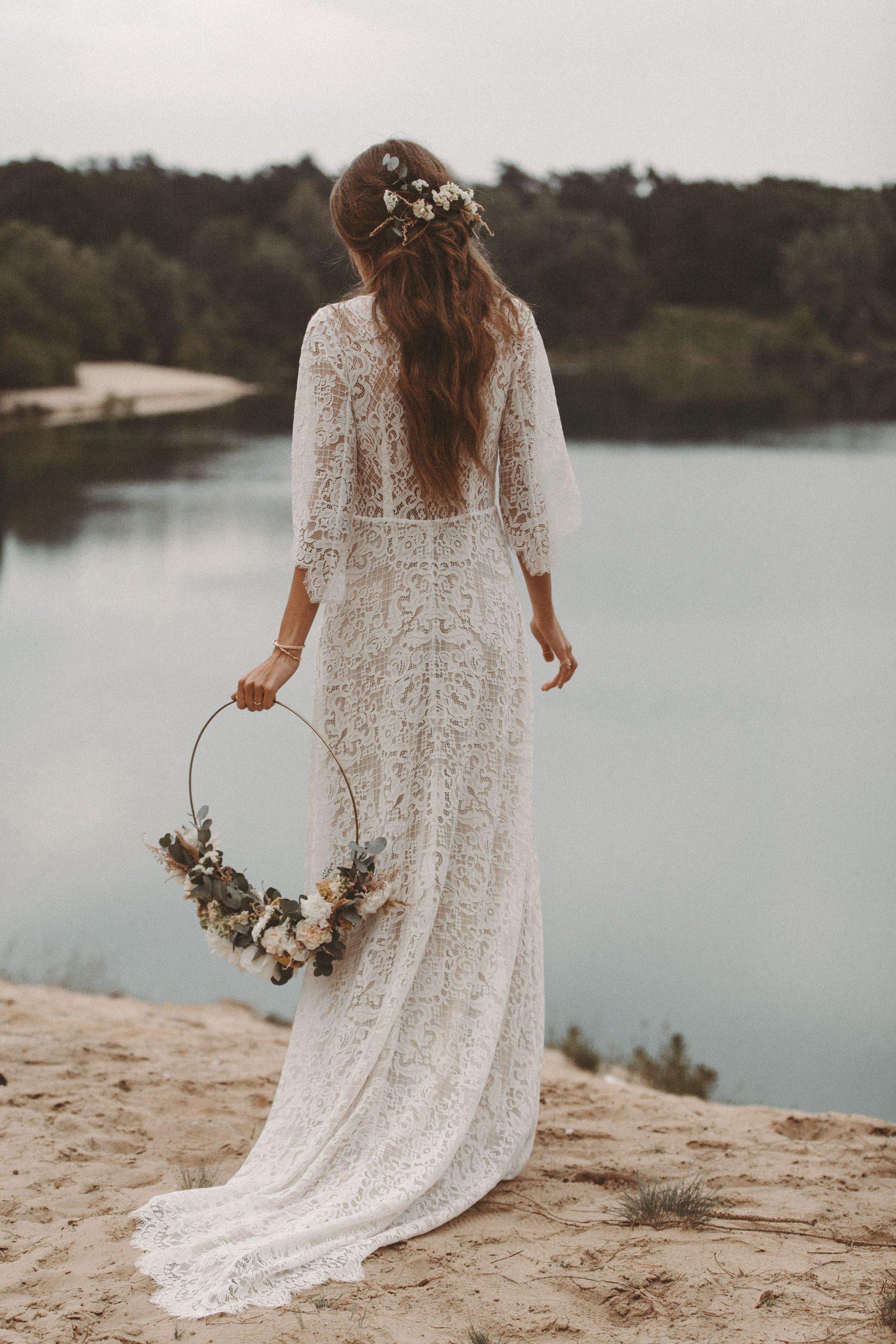 Brautkleid Aus Spitze Boho Hochzeitskleid Vintage