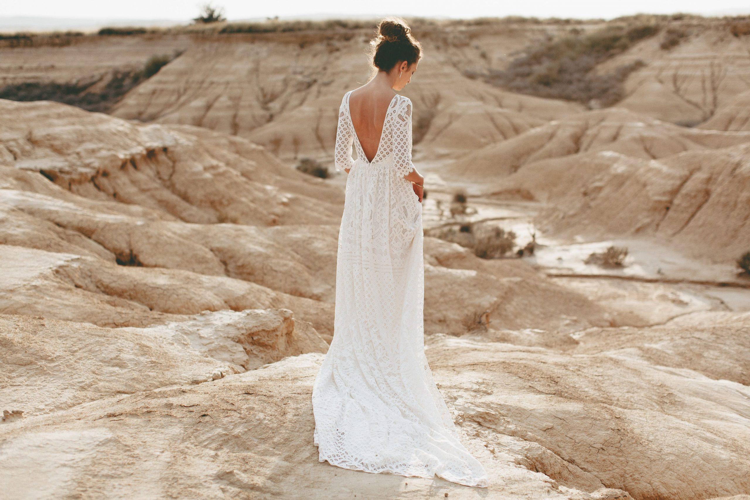 Brautkleid Aus Spitze / Boho Hochzeitskleid / Vintage