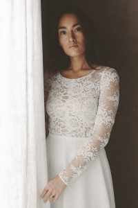 Brautkleid Boho Vintage Rückenausschnitt Hochzeitskleid Mit