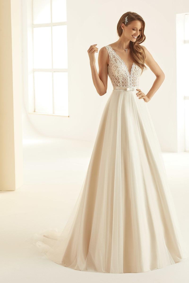Brautkleid Hochzeitskleid Arcada A-Linie Ivory/nude