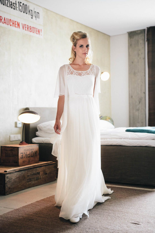Brautkleid In Seide Mit Trägern – Unsere Geliebte Annabelle