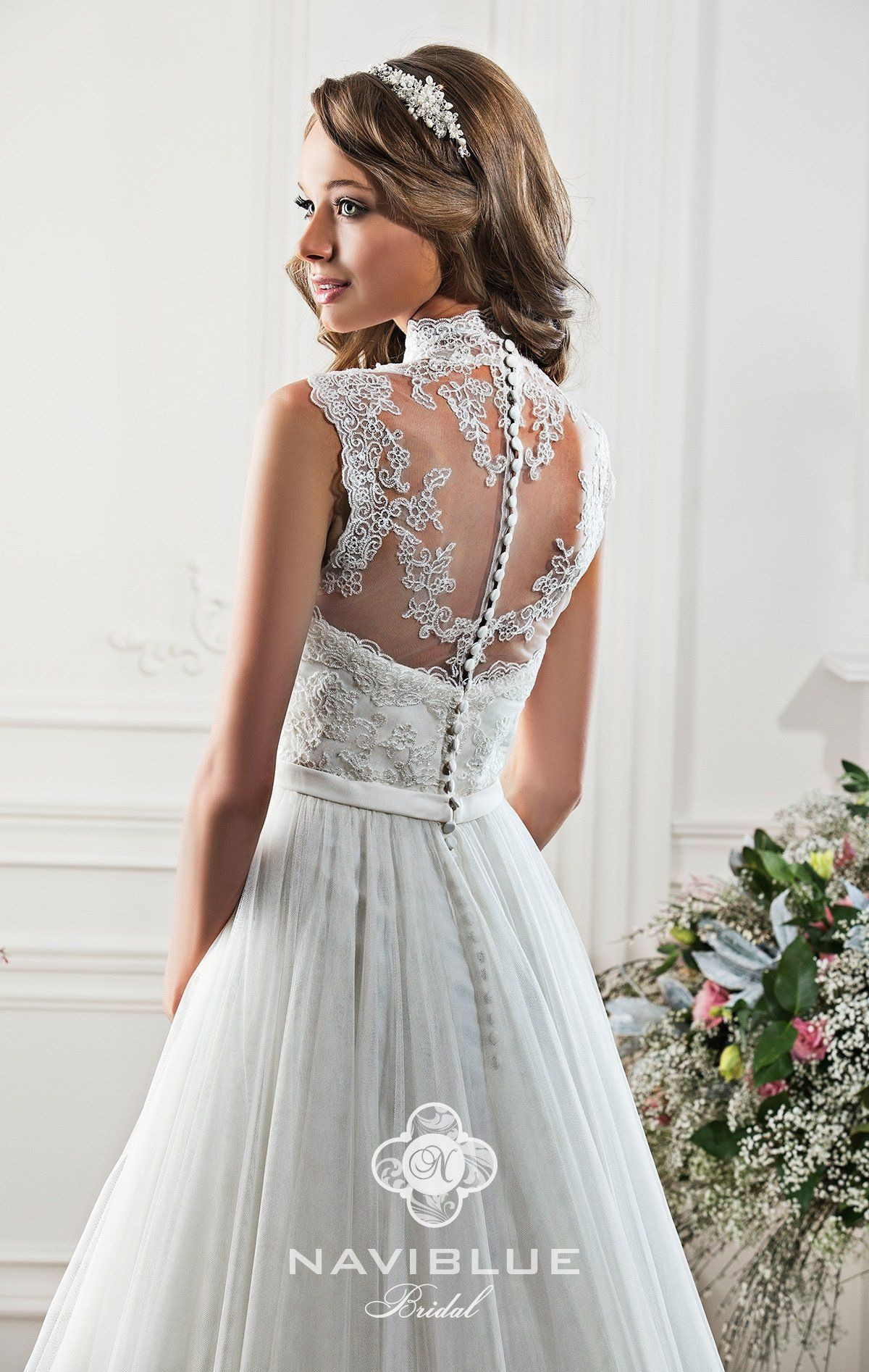 Brautkleid Jena Www.lavie-Brautmode.de | High Collar Wedding