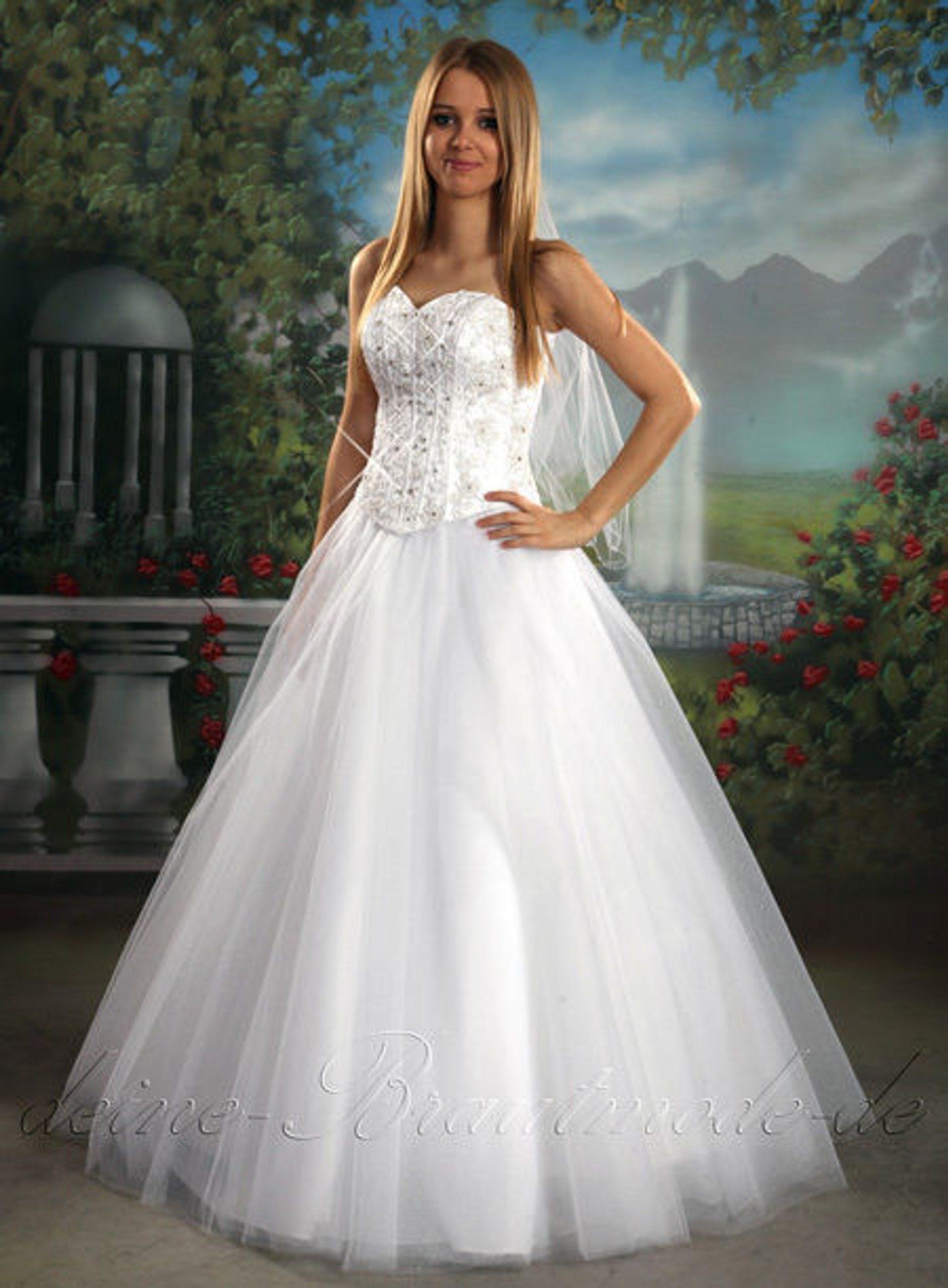 Brautkleid Schleppe Dreiteiler Hochzeitskleid Asfour Kristallen Kleid  Hochzeit