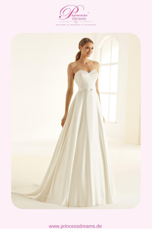 Brautkleid Schlicht Mit Herzausschnitt Trägerlos Von Bianco