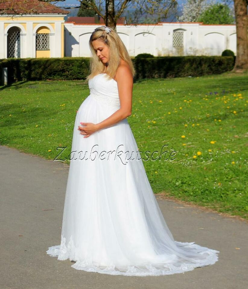 Brautkleid Umstandskleid Gr. 34 Bis 52 Kleid Hochzeit Braut