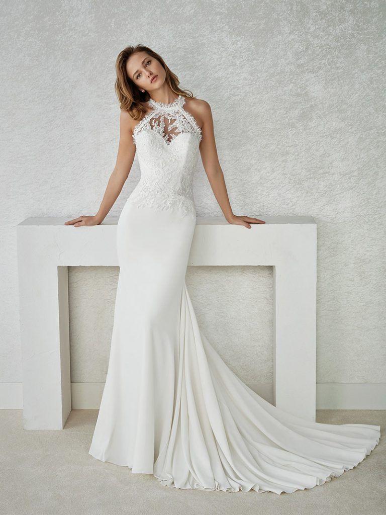 Brautkleider Mit Neckholder | Kleid Hochzeit, Hochzeitskleid