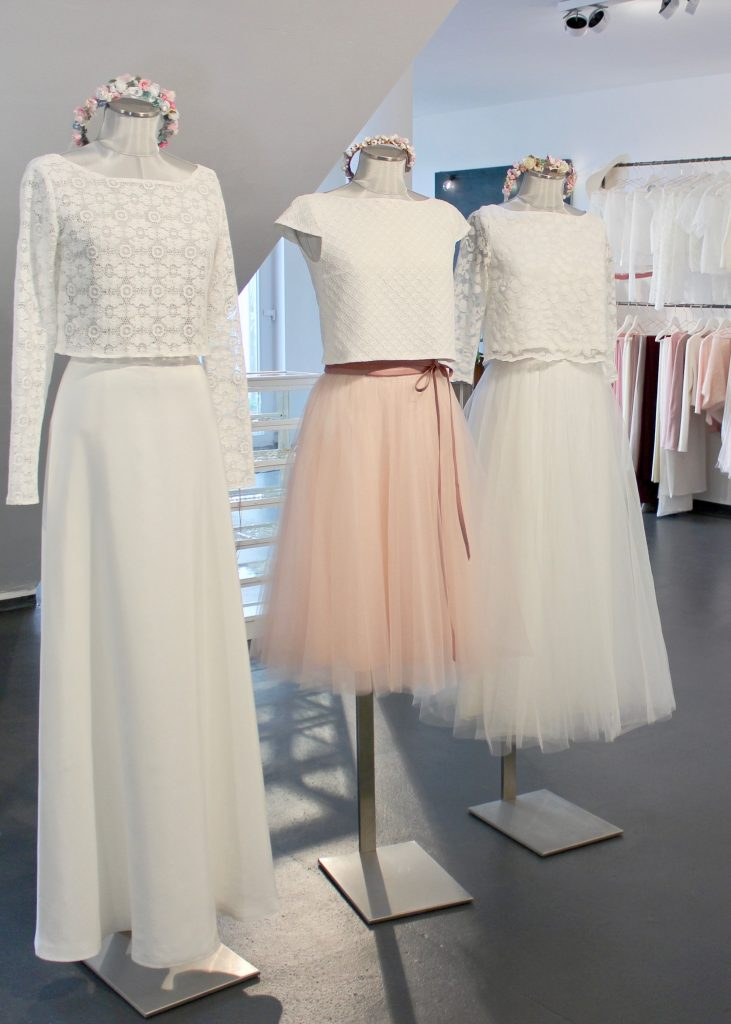 Brautkleider Zweiteiler Top Rock Kombi Fur Die Hochzeit Abendkleid