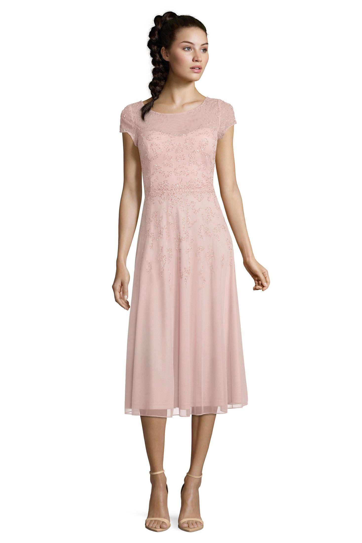 Brautmutter Kleider Wie Dieses Festliche Altrosa Midi-Kleid