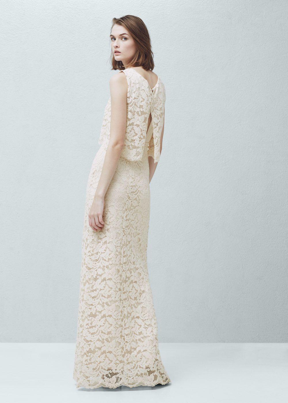 Φόρεμα Γκιπούρ - Γυναίκα | Lange Kleider, Hochzeitskleider