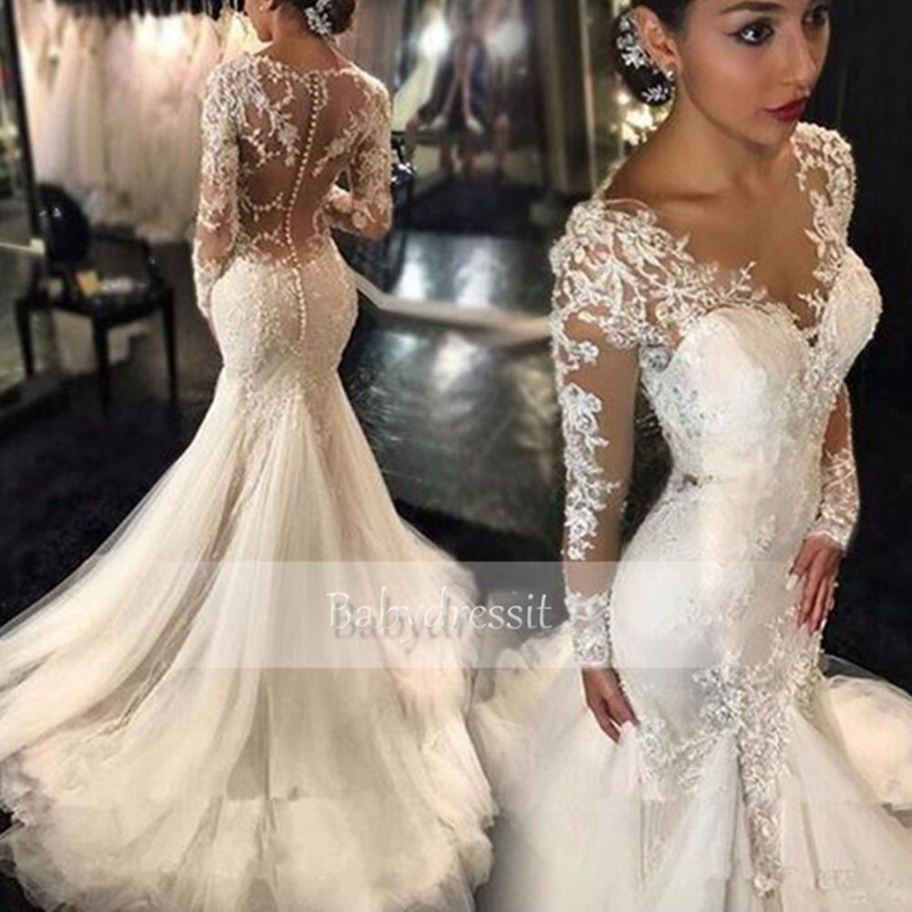 Cheap Long Sleeve Wedding Dress, Buy Quality Mermaid Wedding
