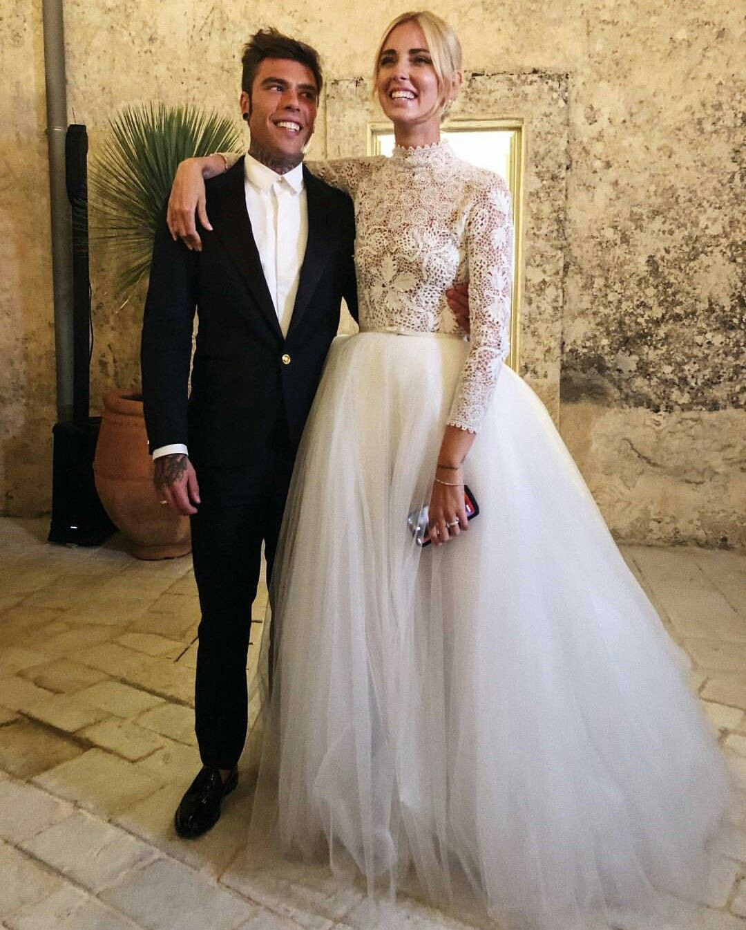 Chiara Ferragni And Fedez Wedding In Noto Sicily Wearing A