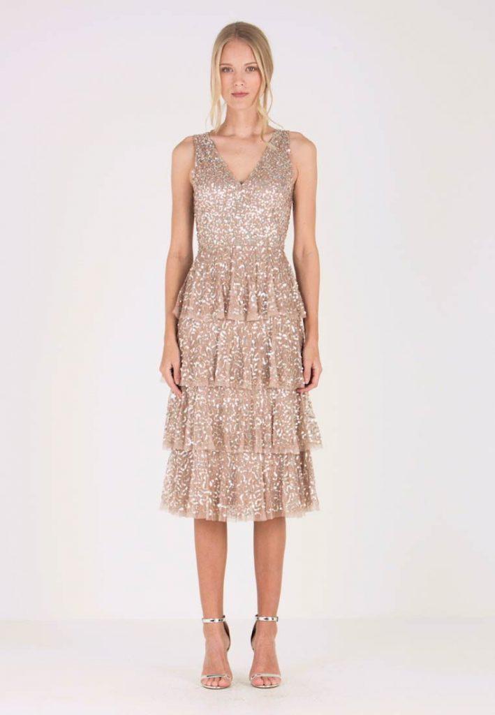 Cocktailkleid/festliches Kleid - Taupe Blush - Abendkleid