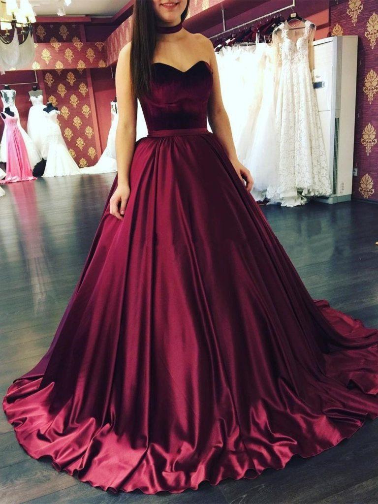 Cool Kleid Weinrot Hochzeit Für 2019 - Abendkleid