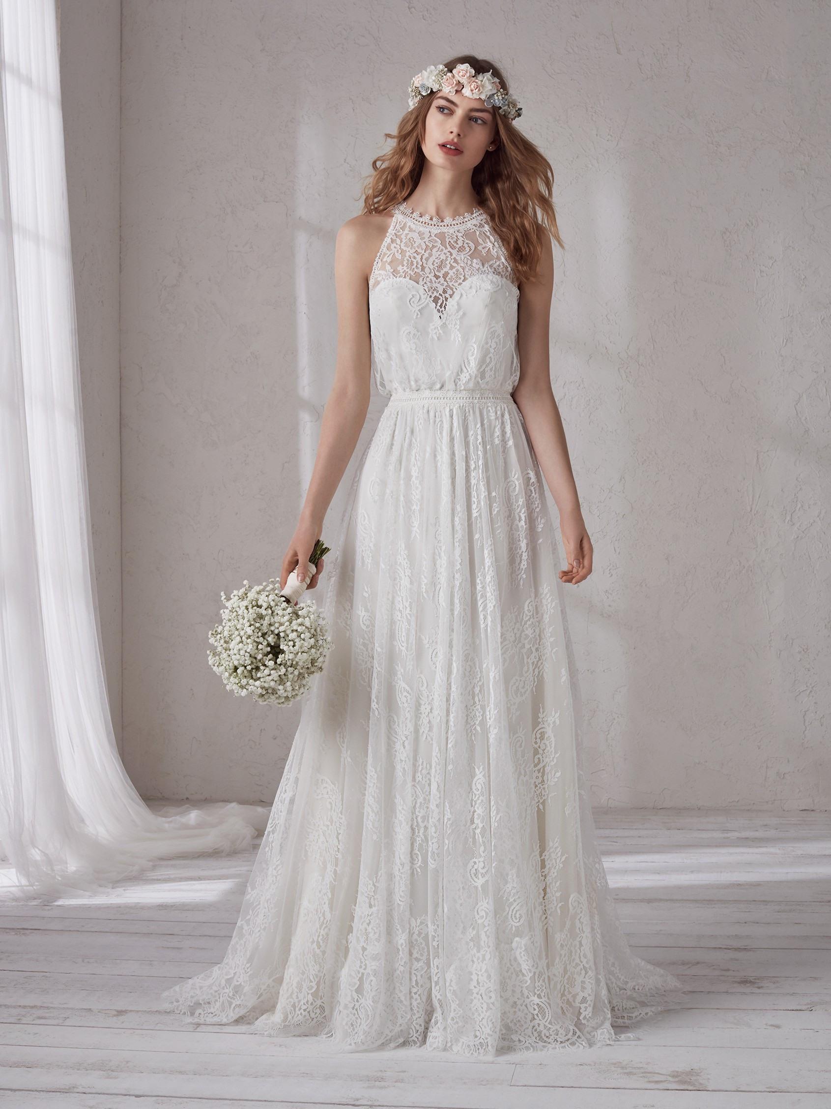 Очаровательное Свадебное Платье В Стиле Бохо С Лифом