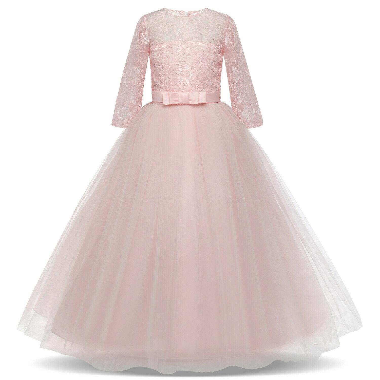Платье Для Девочки Принцесса Платье Вечеринка Свадьба Девушка Причастие  Вечернее Платье Бальные Платья