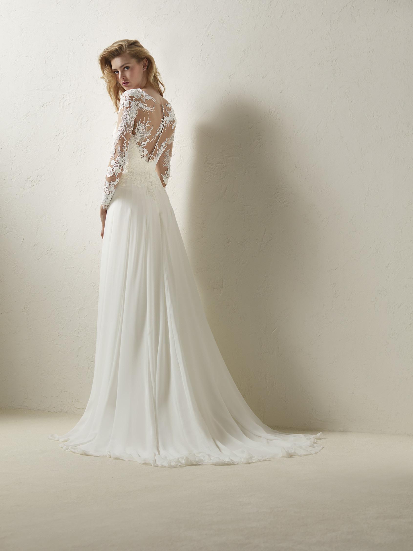Элегантное Прямое Свадебное Платье Dresal С Прозрачным Слоем