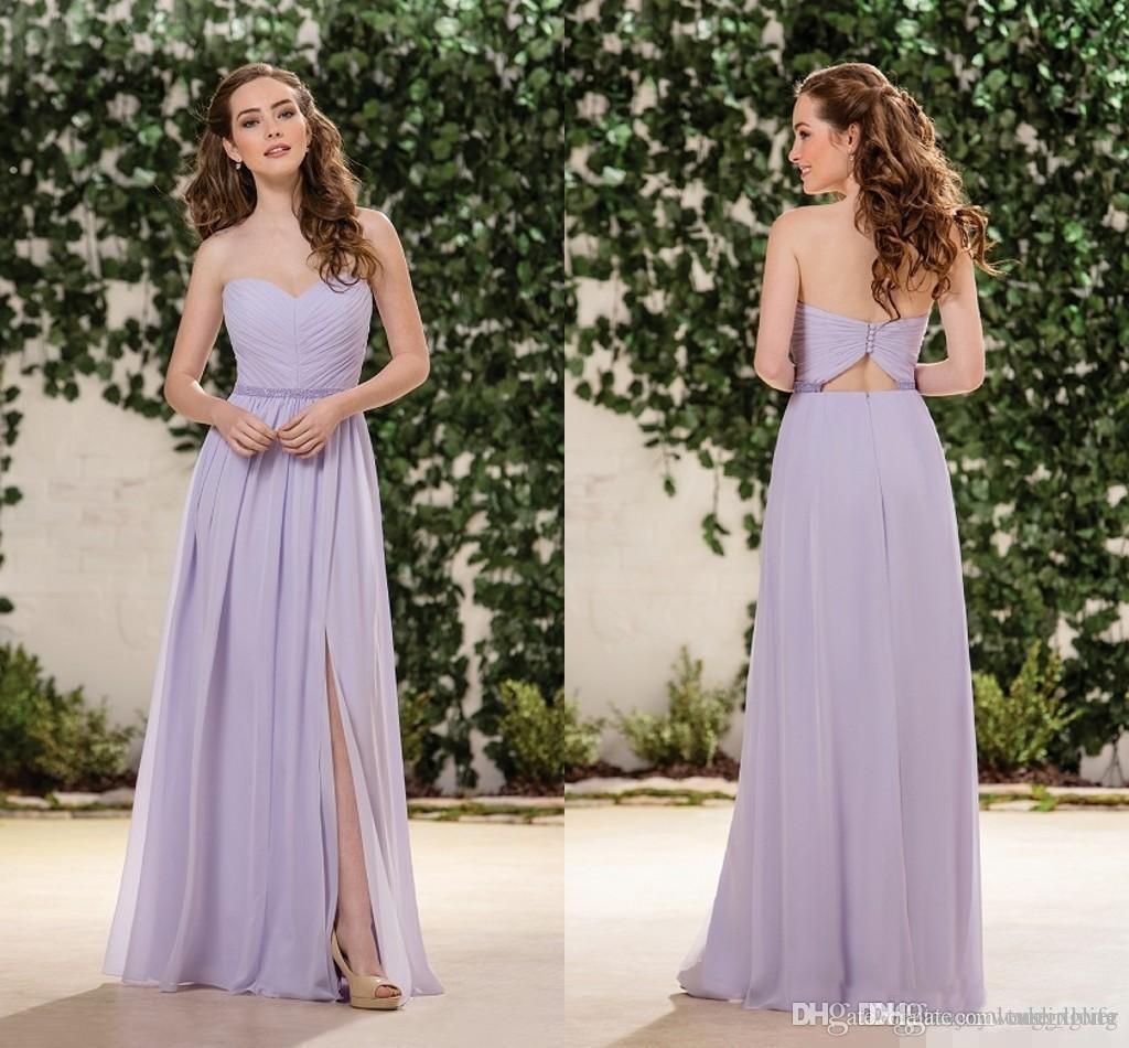 D510F22C77477 Flieder Lavendel Chiffon Brautjungfer Kleider