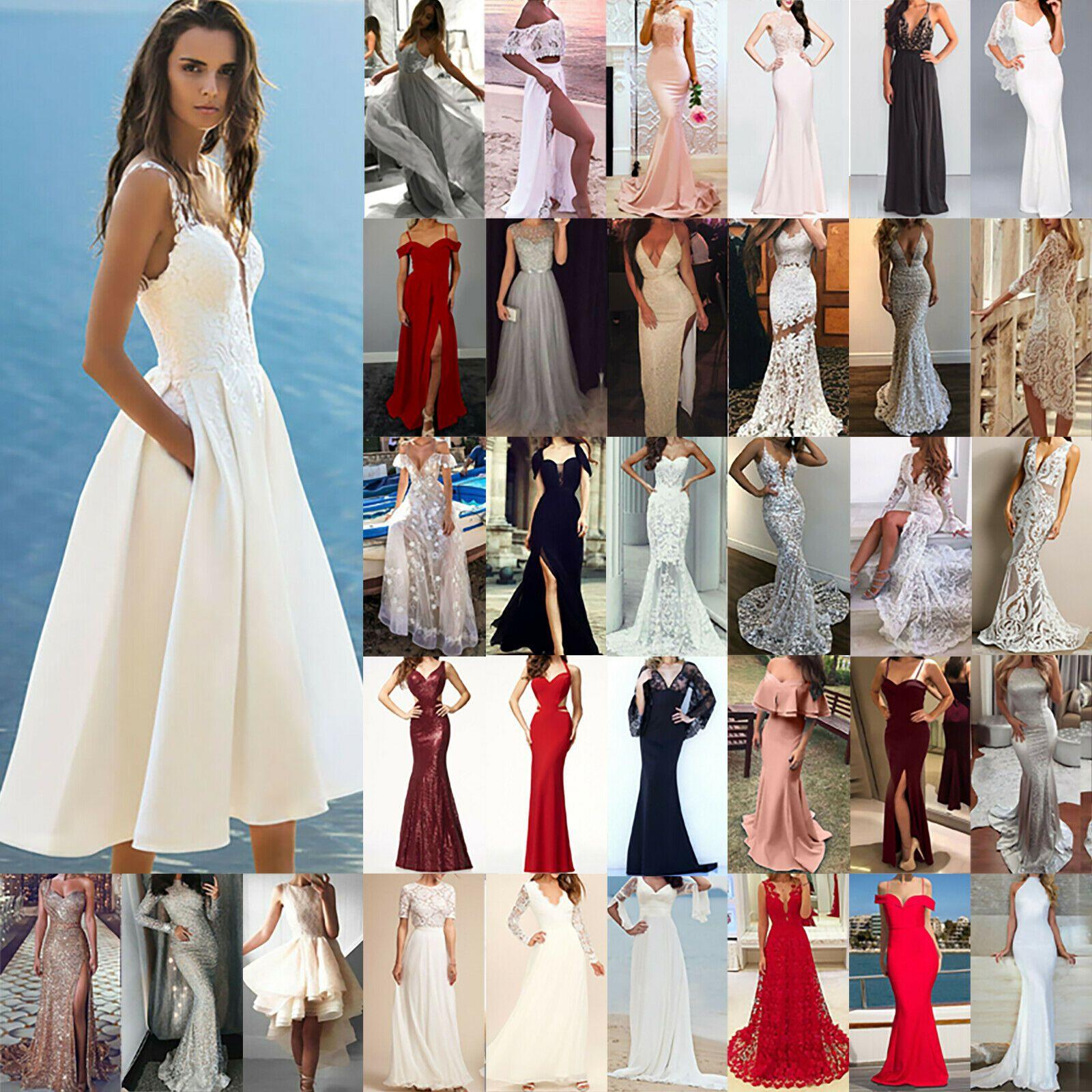 Damen Hochzeit Brautjungfern Party Kleider Abendkleid