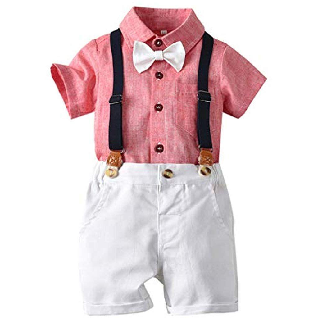Deloito Baby Kleinkind Kleidung Set Jungen Gentleman Fliege