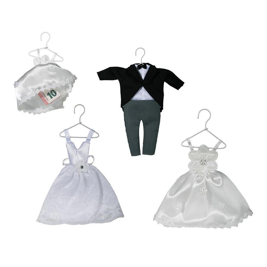 Details Zu Geschenk Verpackung Für Geldgeschenk Hochzeit Brautkleid Anzug  Organza Beutel