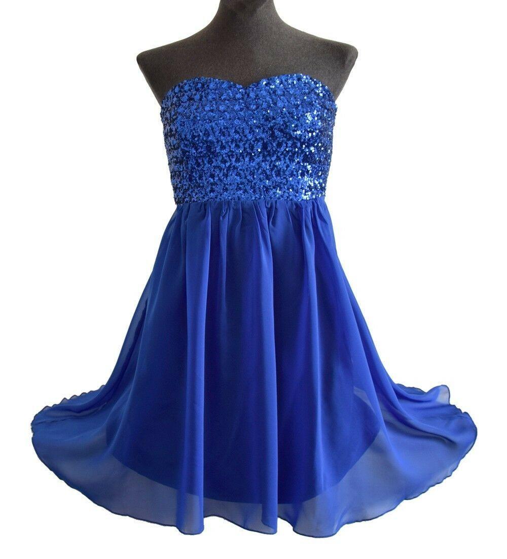 Details Zu Kleid Blau M 38 Vila Abendkleid Hochzeit