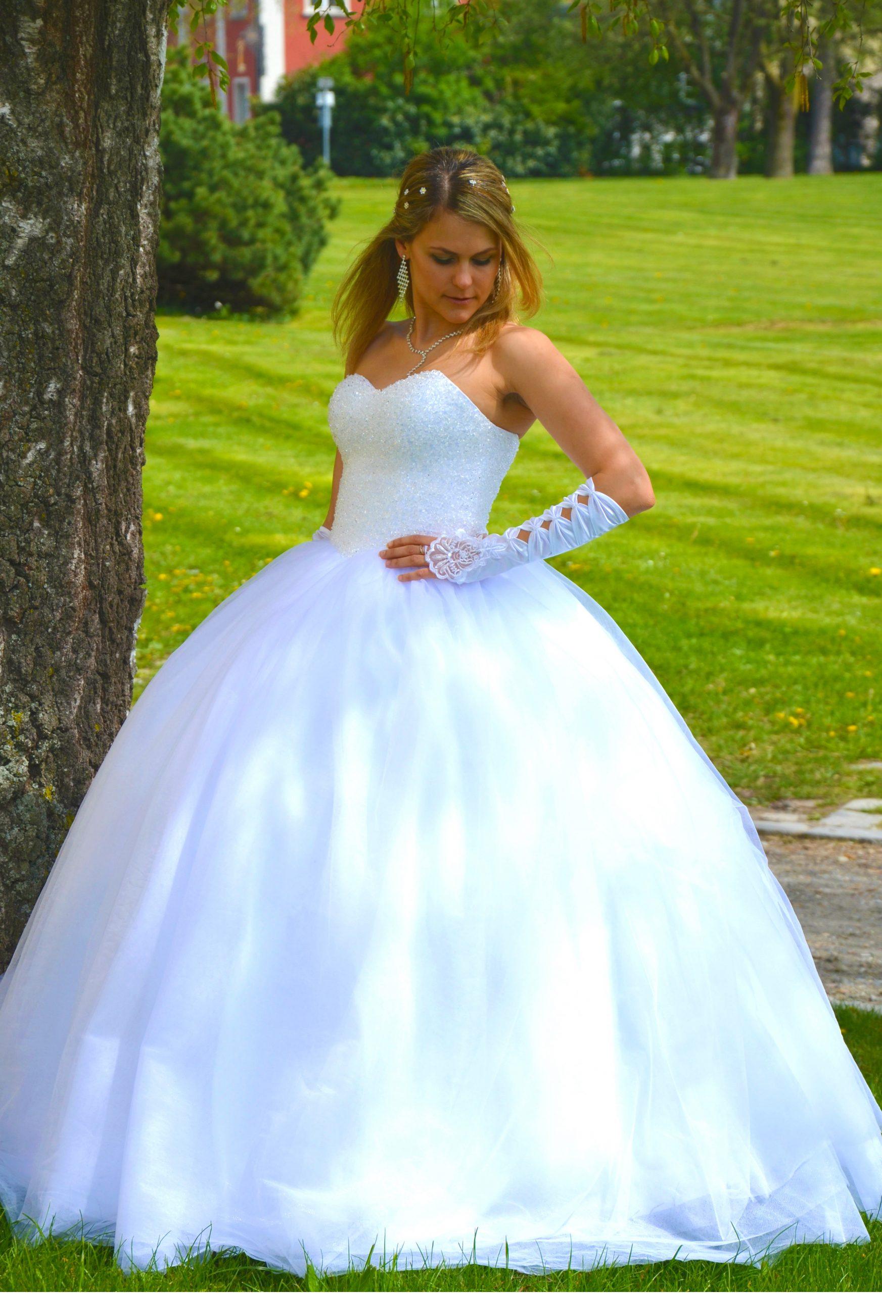 Details Zu Neu Prinzessin Brautkleid Hochzeitskleid 34 Bis 52 Kristall  Glitzer Braut Kleid