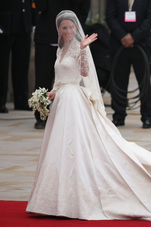 Die Schönsten Brautkleider Der Stars   Kate Hochzeitskleid