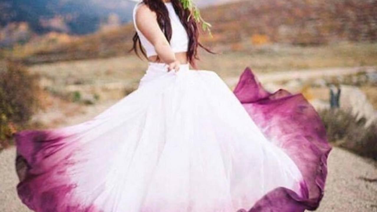 Dip Dye Hochzeitskleider: Brautkleider Mit Farbverlauf