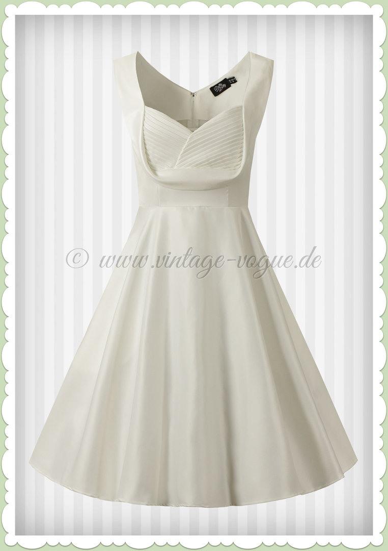Dolly & Dotty 50Er Jahre Hochzeit Retro Petticoat Kleid - Grace - Weiß