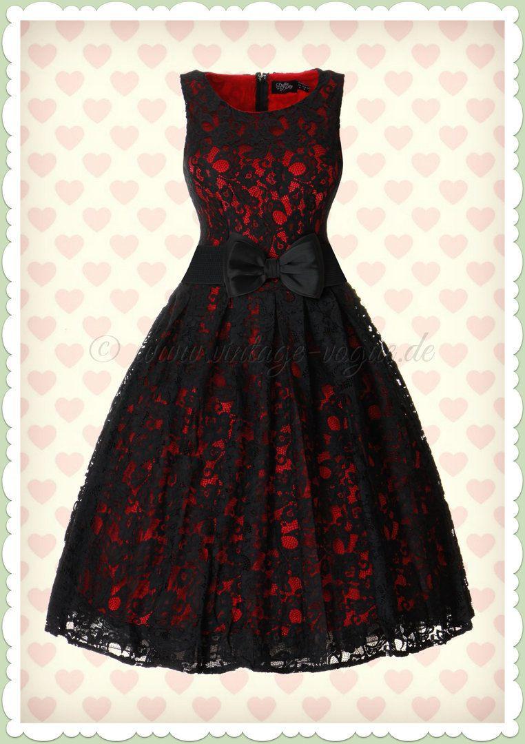 Dolly & Dotty 50Er Jahre Retro Spitzen Petticoat Kleid