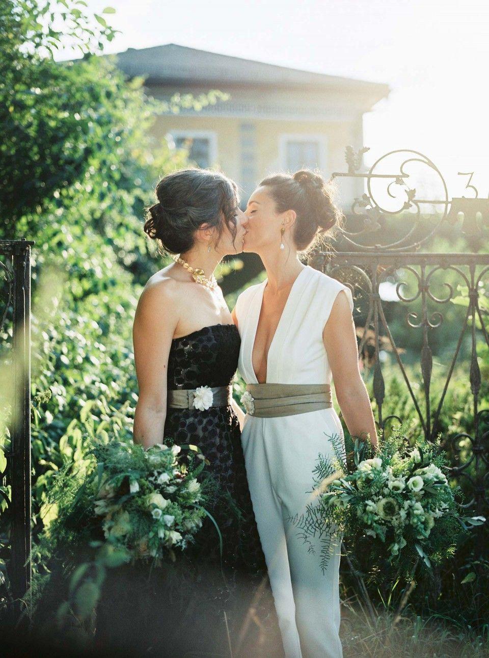 Doppelte Weiblichkeit: Hochzeitsidee In Schwarz-Weiß Siegrid