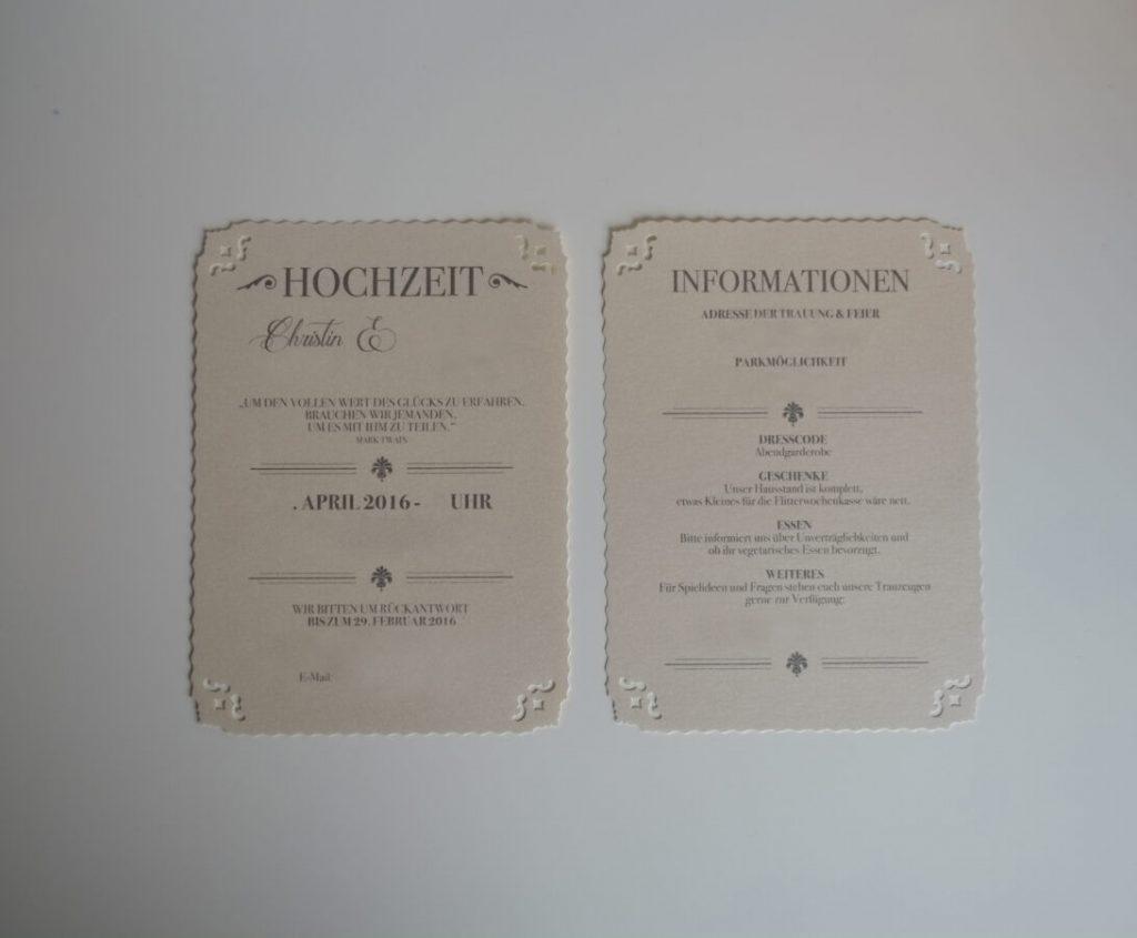 Dresscode Hochzeit Einladung Hochzeitseinladung Diy - Abendkleid