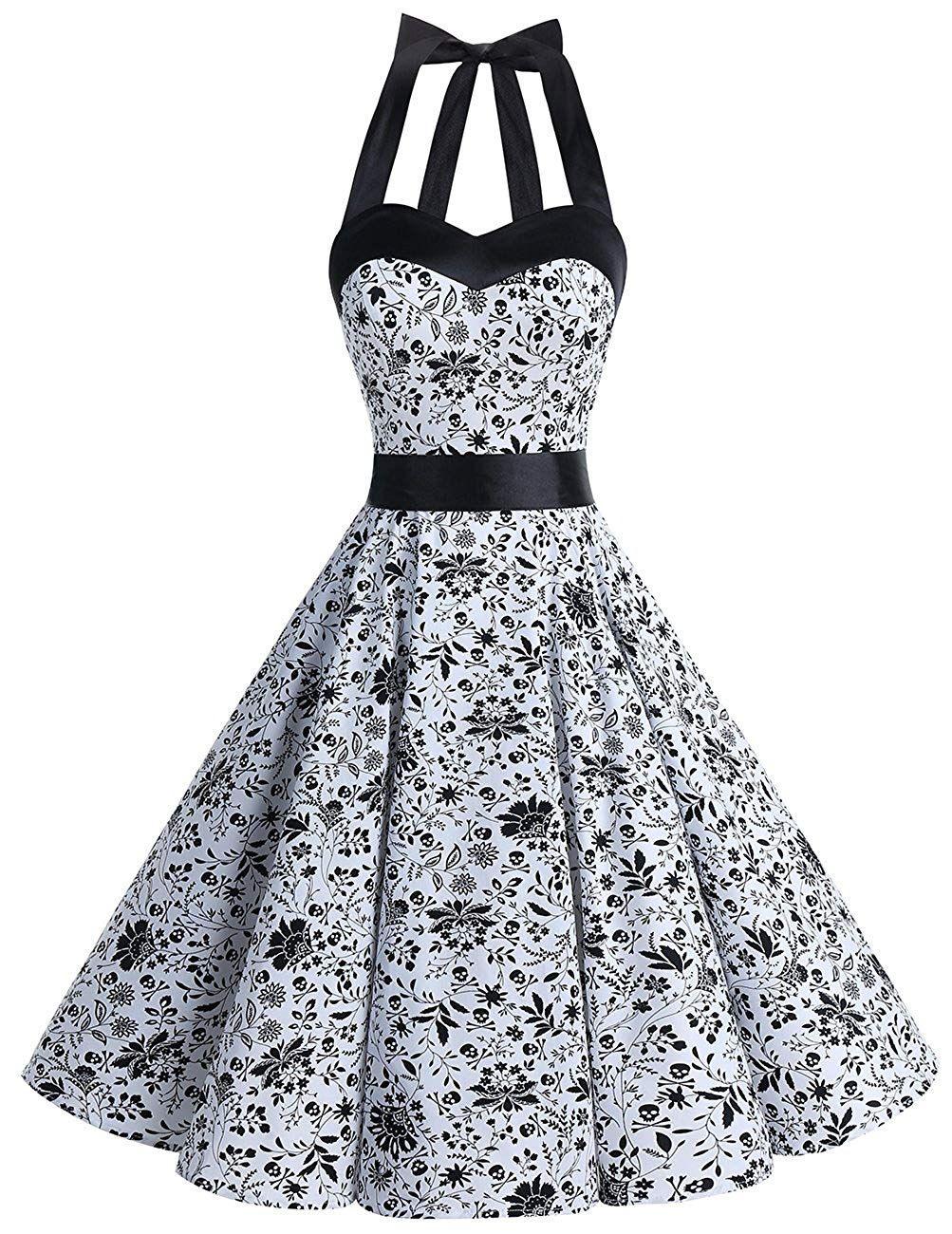 Dresstells #neckholder #rockabilly #1950Er #polka #dots