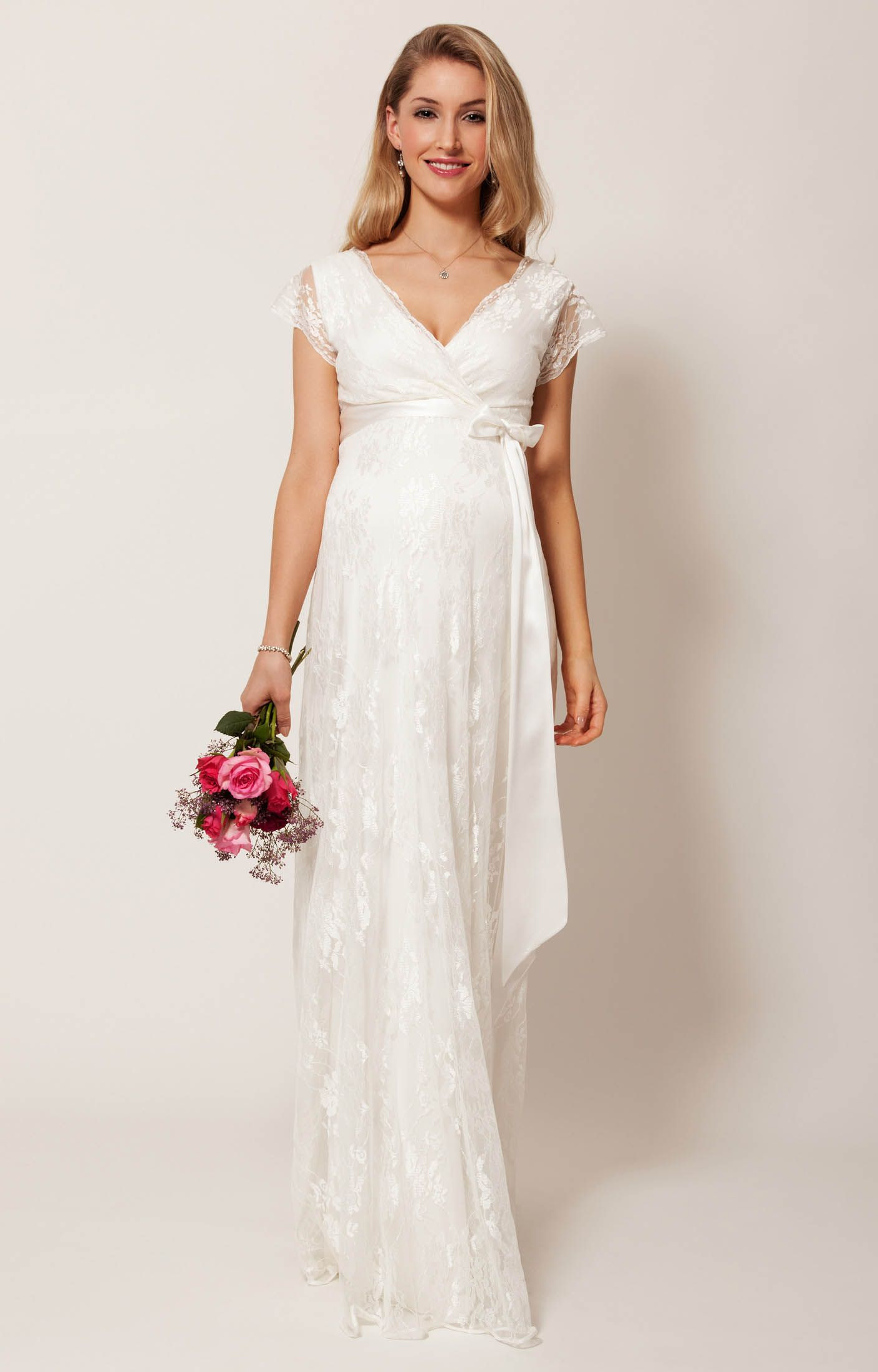 Eden Maternity Wedding Gown Long (Ivory Dream