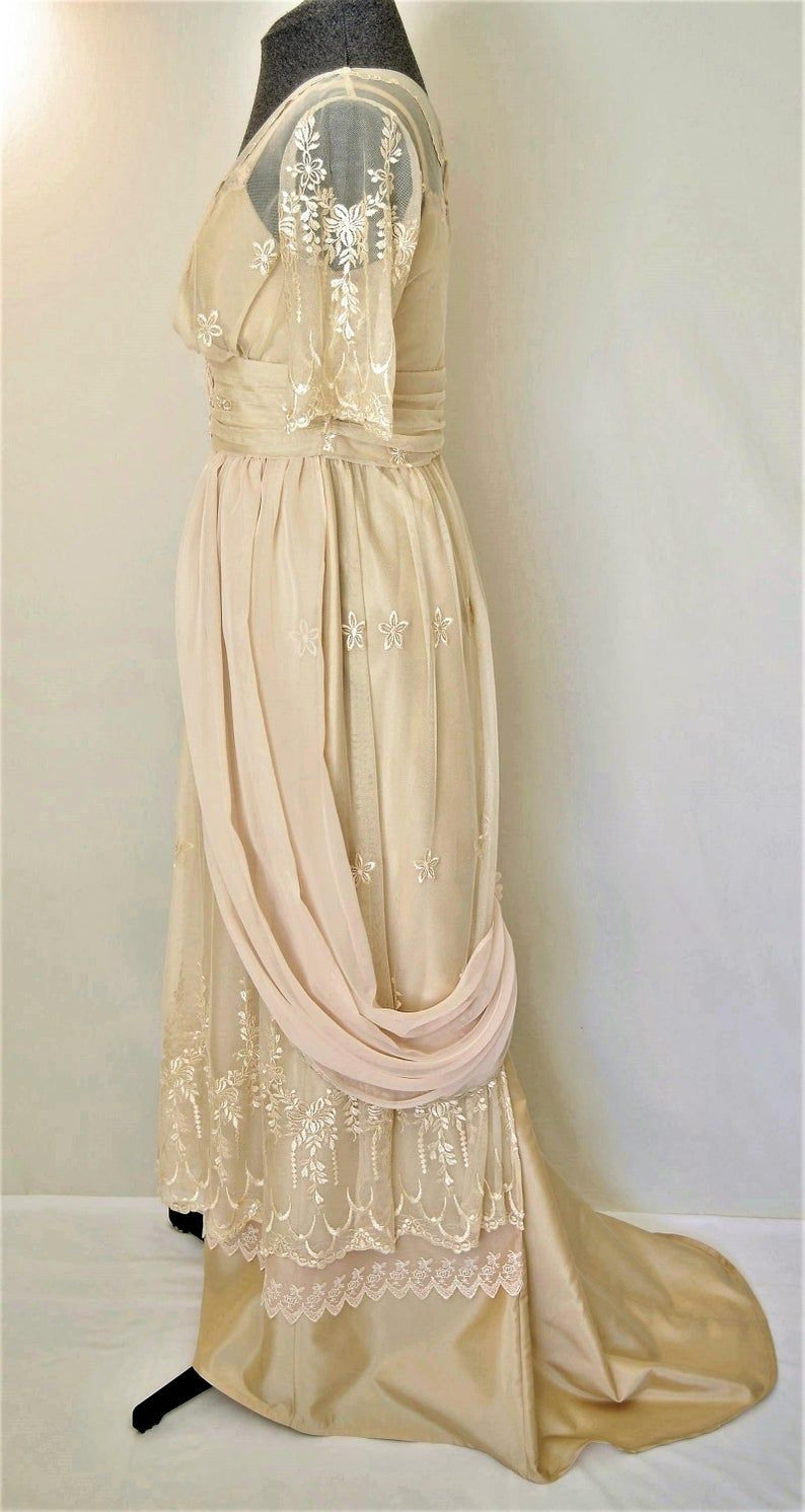 Edwardian Wedding Dress, Lace Wedding Dress, Victorian