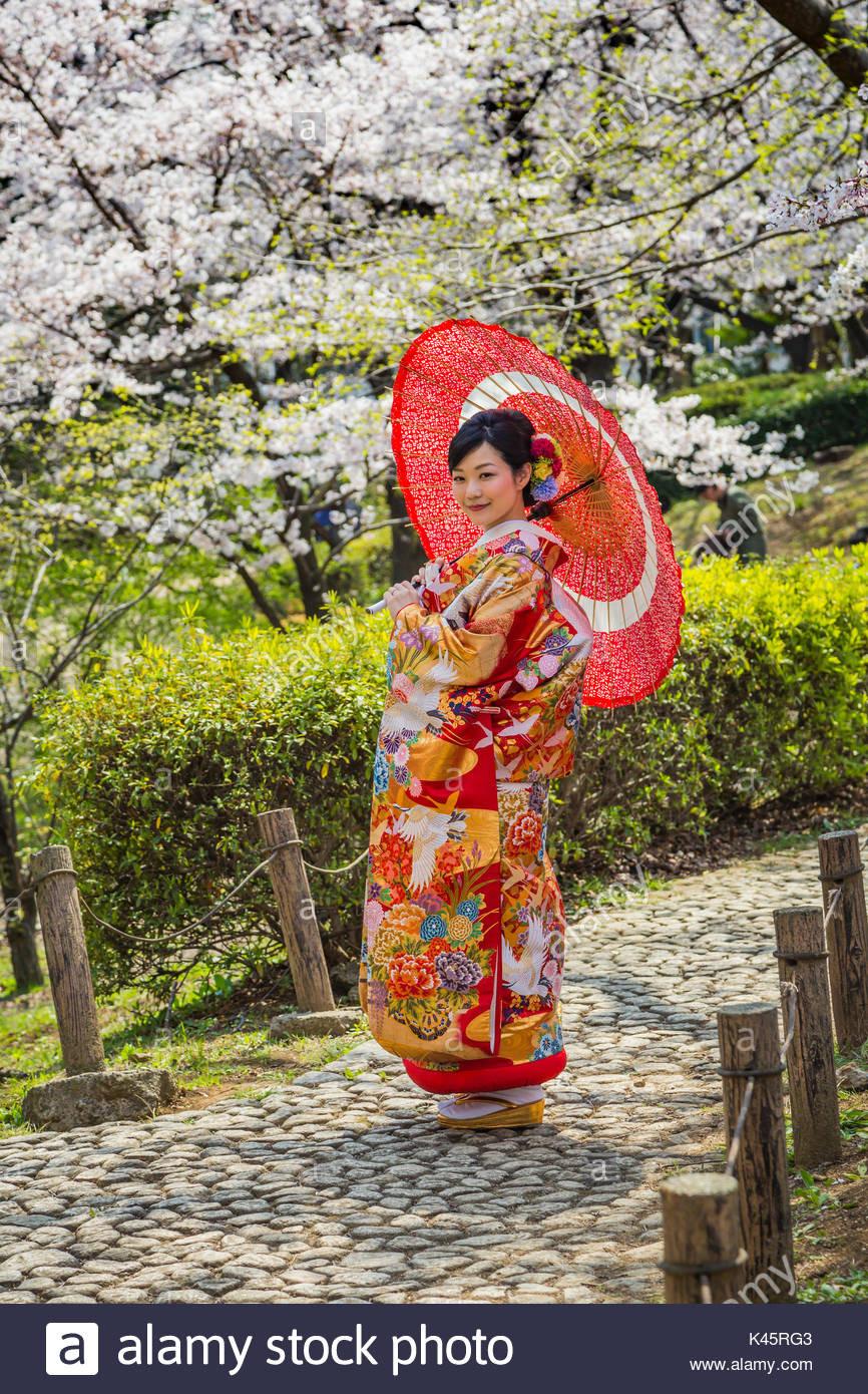 Eine Japanische Braut In Traditionelle Hochzeit Kleid In