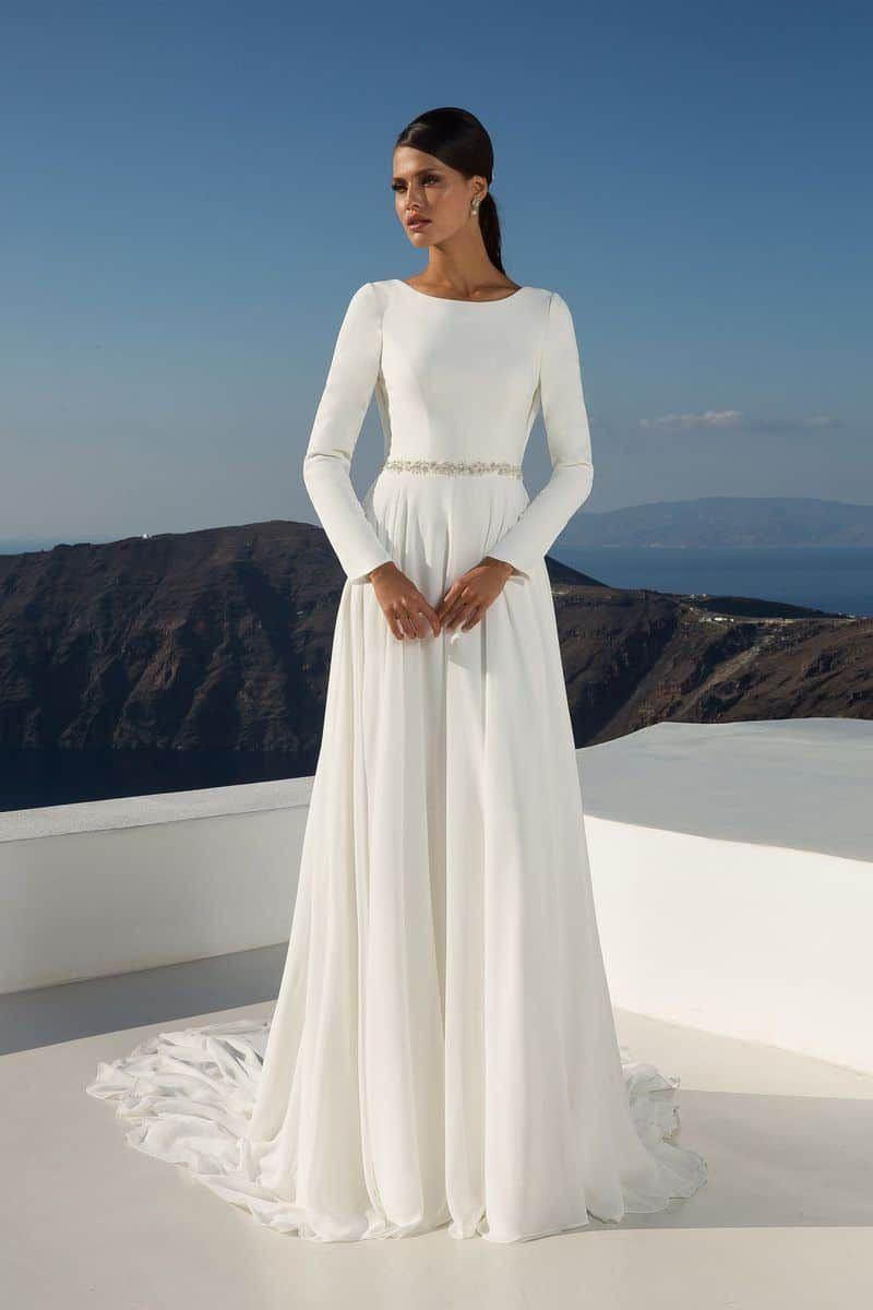 Einfache Langärmelige Brautkleider Wie Brautkleid Von Meghan